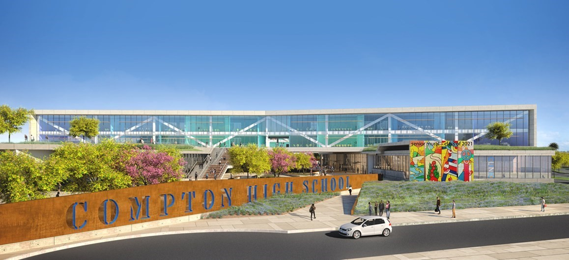 Drawing of New Compton High School Design